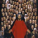 Obraz beatyfikacyjny 108. polskich męczenników autorstwa Stanisława Bai. Archiwum rodzinne