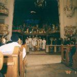 Premiera 'Hanowerskich jasełek', kościół pw. św. Franciszka Serafickiego, 2002 r. Archiwum rodzinne