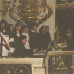 Inscenizacja 'Hanowerskich jasełek', kościół pw. św. Franciszka Serafickiego, 2002 r. Archiwum rodzinne