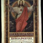 Pamiątka poświęceniu się rodziny Tułasiewiczów Sercu Pana Jezusa, 1920 r. Archiwum rodzinne