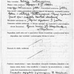 Karta wpisowa z dziekanatu humanistycznego Uniwersytetu Poznańskiego. Archiwum UAM