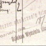 arta zaliczeniowa z dziekanatu humanistycznego Uniwersytetu Poznańskiego. Archiwum UAM