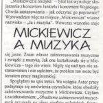 Recenzja pracy magisterskiej Natalii Tułasiewicz opracowana przez prof. S. Kozłowskiego, Michael, 3(53) 2002. Archiwum rodzinne