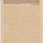 List Natalii z Ravensbrück do przyjaciółek Marii i Teci pisany cudzą ręką. Archiwum rodzinne
