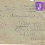 Koperta listu Natalii do przyjaciółki A. Marcinkiewicz. Archiwum rodzinne