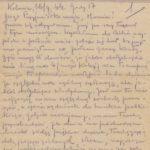 List Natalii do przyjaciółki A. Marcinkiewicz. Archiwum rodzinne