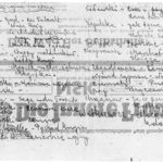 Spis lektur do małej matury podyktowany przez Natalię Misi i Krysi w Ravensbrück. Kopia spisu - archiwum rodzinne