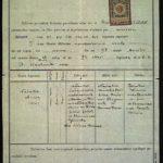 Metryka urodzenia Natalii Tułasiewicz. Archiwum rodzinne